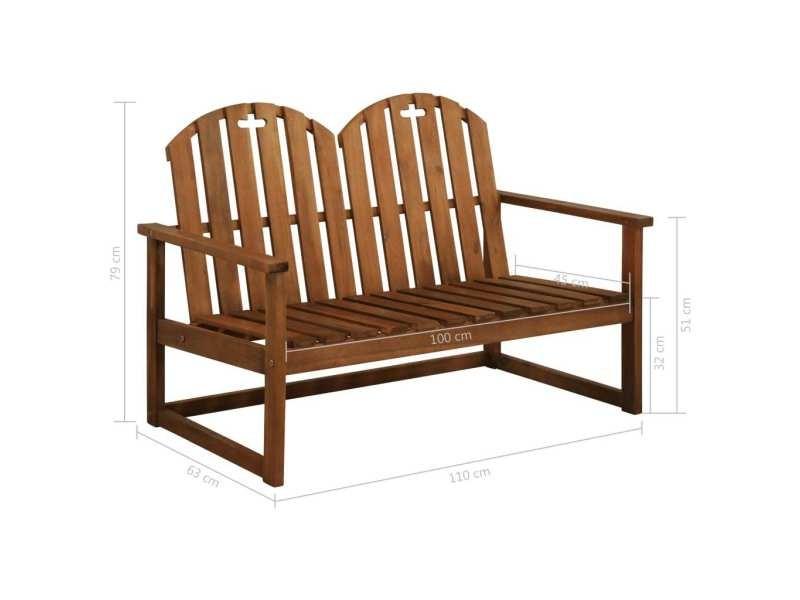 Vidaxl Banc De Jardin 110 Cm Bois D Acacia Solide 44034 Vente De