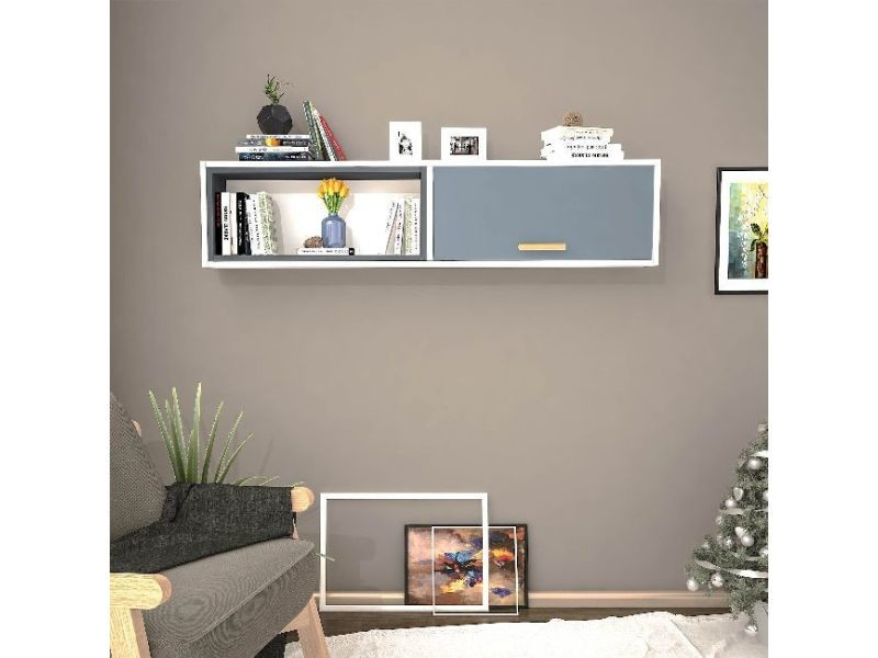 Étagère safir blanc anthracite gris pour chambre séjour bureau