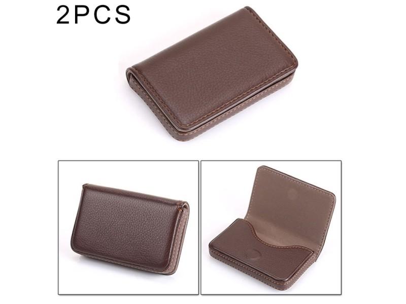 Carte Pcs Premium.Porte Cartes Cafe 2 Cas De Carte De Visite En Cuir Pu