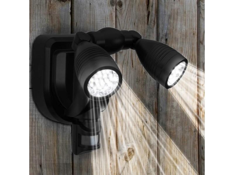 Ultra Lampe double projecteur solaire orientable 38 leds avec détecteur IB-41