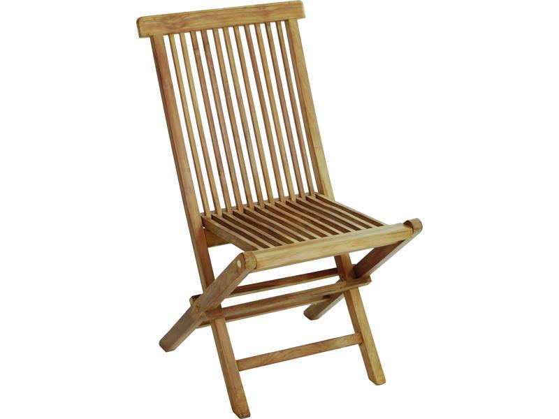 Chaise pliante pour jardin en bois teck, coloris naturel - dim : 91 x 46 x 61 cm -pegane-