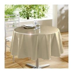 Nappe ronde 160 cm glossy beige