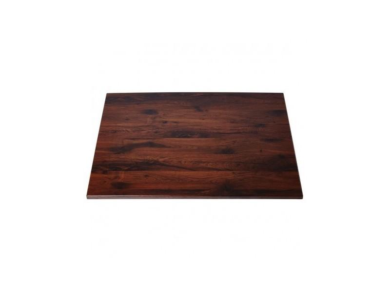 Plateau de table carré 600 mm werzalit chêne antique