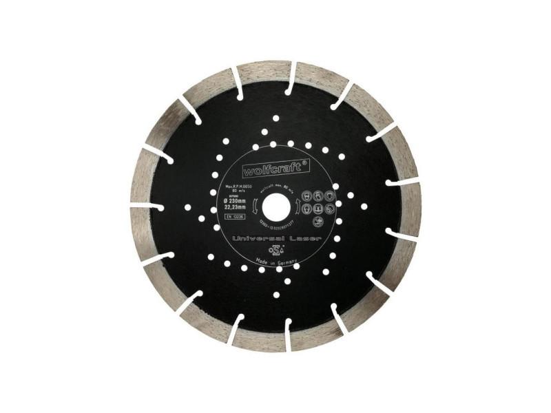 Wolfcraft disque diamant expert - diametre: 230 mm seg.17