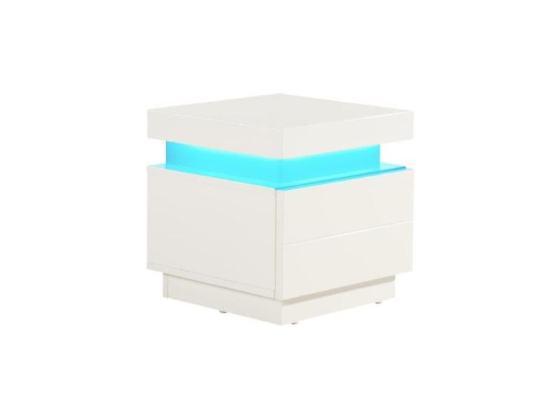 Flash chevet contemporain blanc brillant - l 40 cm - Vente ...