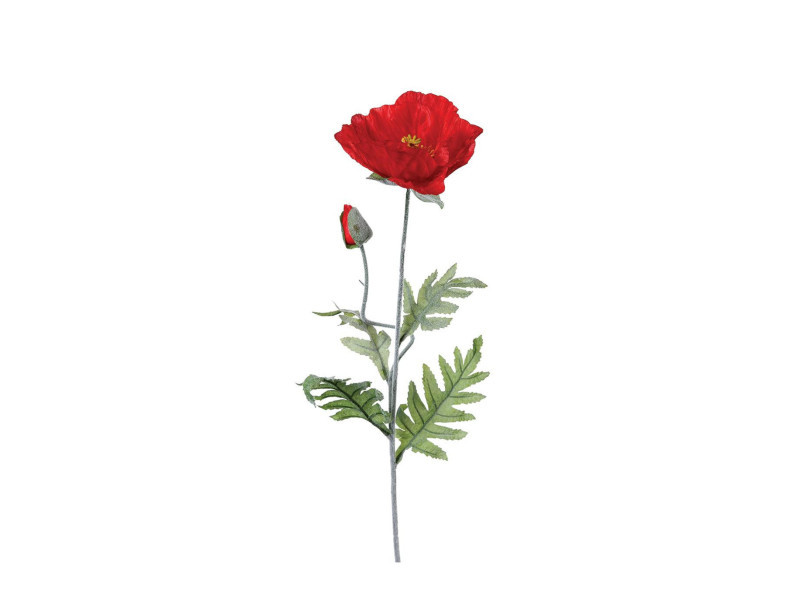Atmosphera - fleur artificielle tige coquelicot h 70 cm