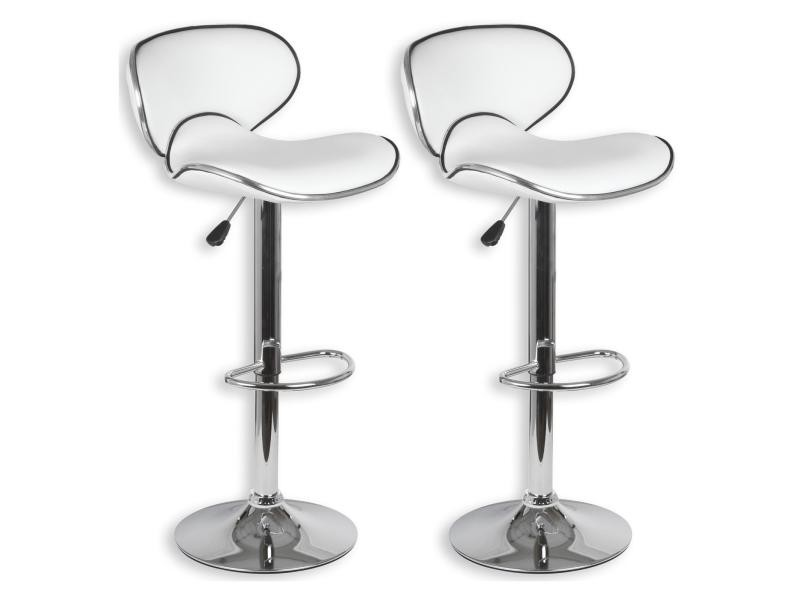 Lot De 2 Tabourets De Bar Lounge Chaise Haute Pour Cuisinecomptoir