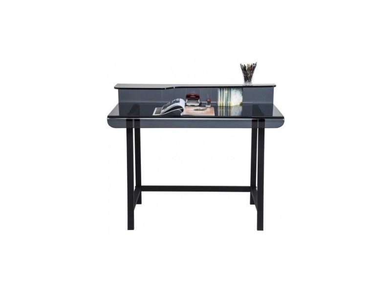 Bureau design en verre noir vente de kare design conforama