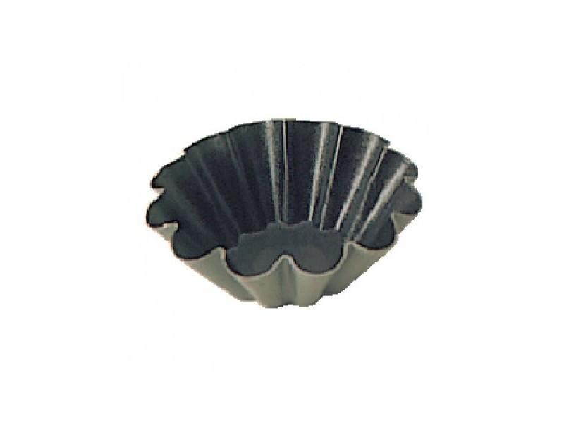Moules (12) à mini brioche anti-adhésifs 75mm matfer - 7,5 cm inox