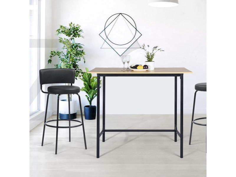 Bureau moderne chêne bois métal