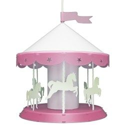Lampe suspension enfant manège