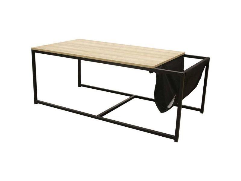 Table basse avec porte-revues intégré nate