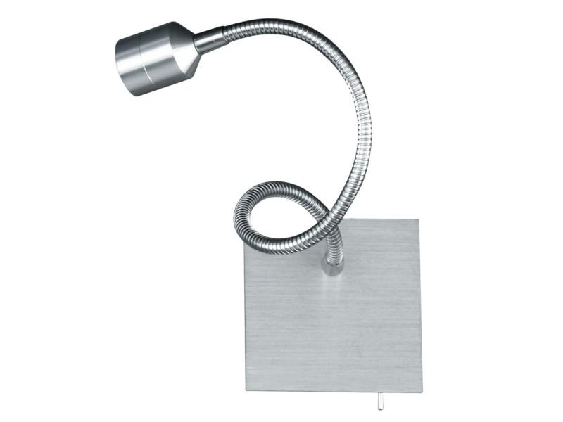 Applique liseuse led flexible lovi argentée en métal