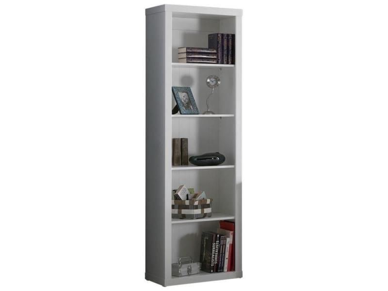 biblioth que moderne 60 cm en pin massif et mdf coloris blanc p 21423 co c borgen vente de. Black Bedroom Furniture Sets. Home Design Ideas