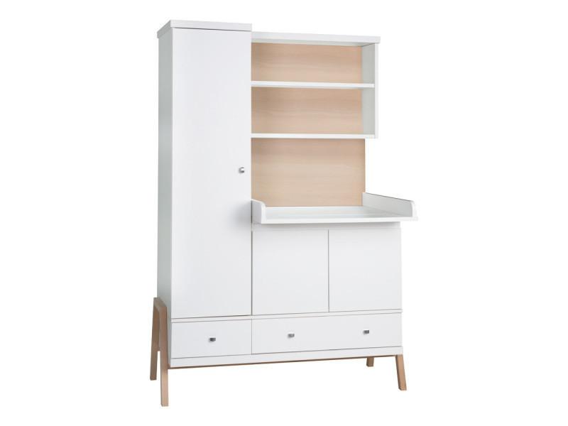 armoire volutive avec table langer scandinave. Black Bedroom Furniture Sets. Home Design Ideas