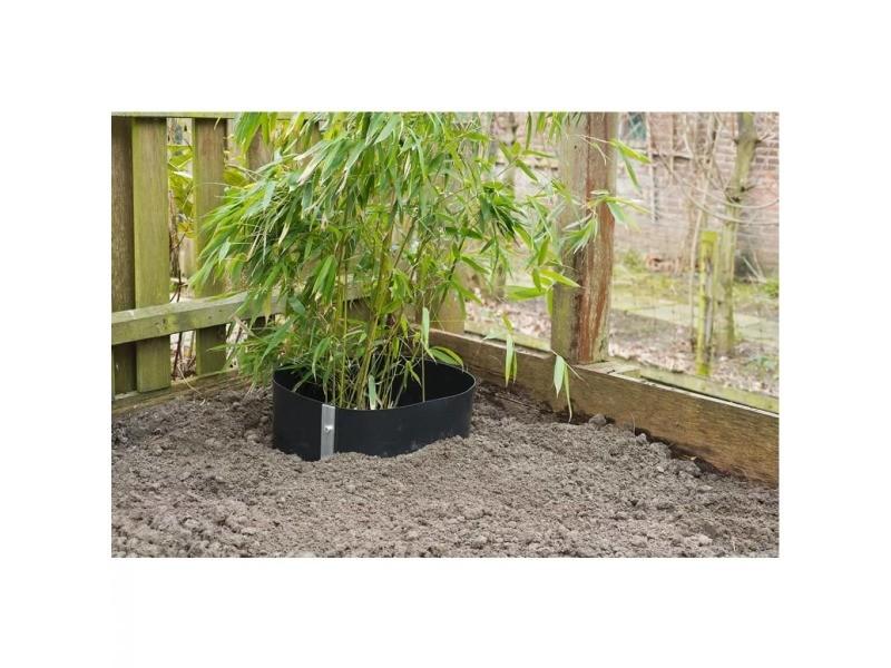 Icaverne - accessoires de jardinage selection feuille de barrière de racine nature 0,7 x 3 m hdpe noire 6030226