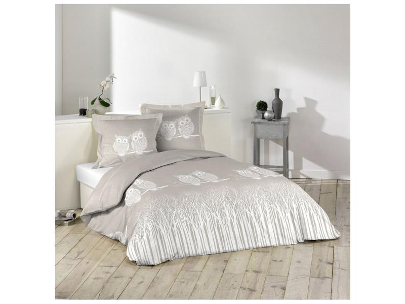parure housse de couette 240 x 220 cm edwige chouette hibou vente de parure de lit 1 personne. Black Bedroom Furniture Sets. Home Design Ideas