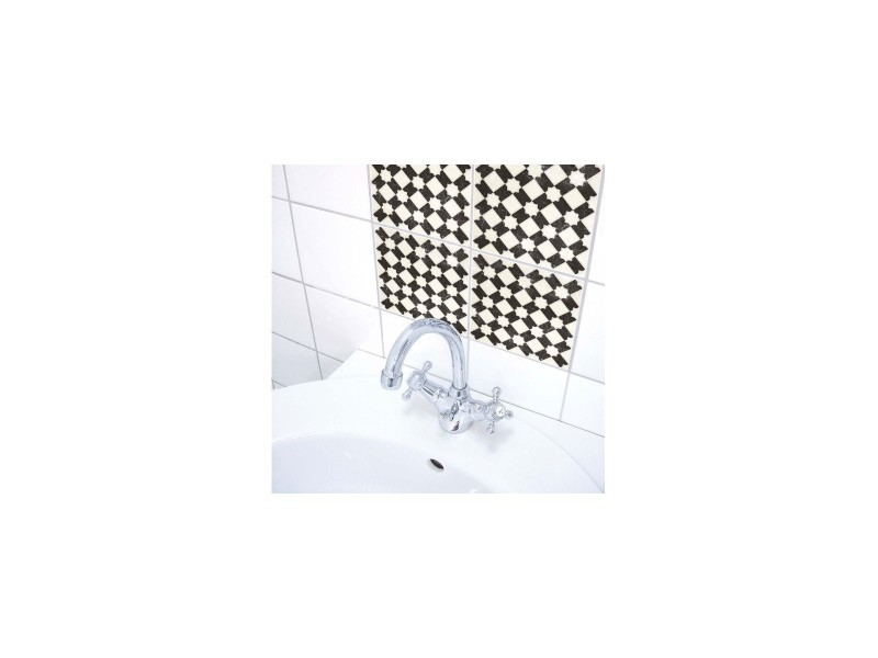 Stickers pour carrelage de salle de bain ou cuisine carreaux noir et ...
