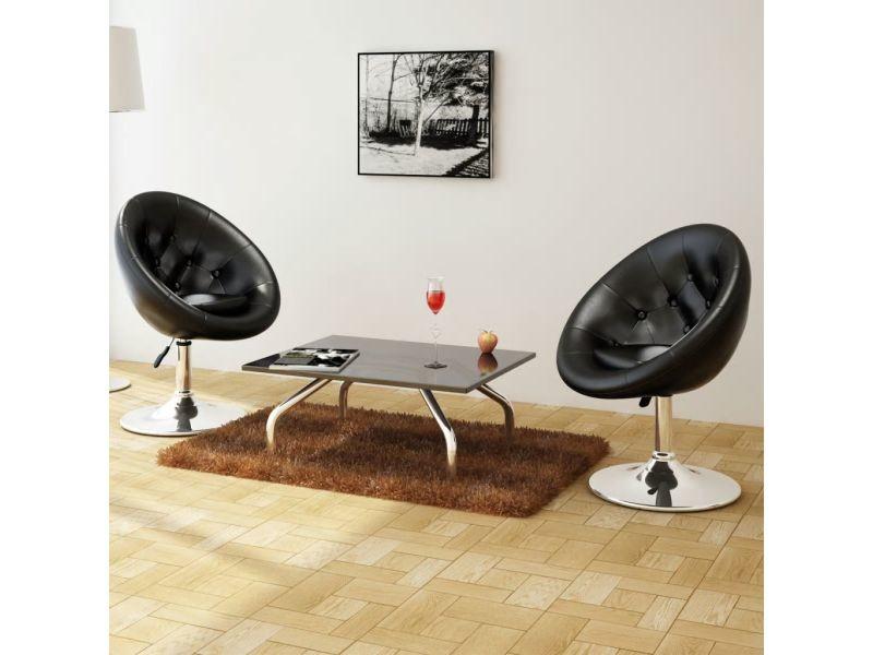 Splendide fauteuils categorie tripoli chaise de club 2 pcs cuir synthétique noir