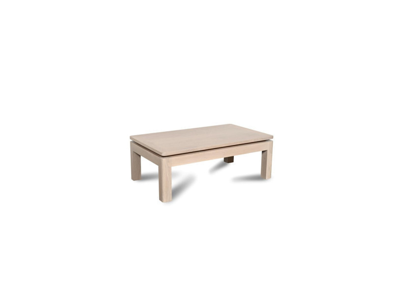 Table basse atlantique bois ch ne blanchi massif vente for Table de salon en chene massif