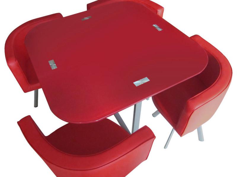 Table Et Chaises Mosaic 90 Rouge