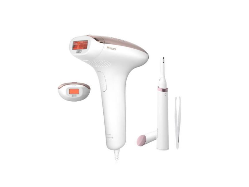 Philips bri927/99 epilateur a lumiere pulsée ipl lumea + tondeuse corps & visage + pince a épiler - epilation semi-définitive PHI8710103939474