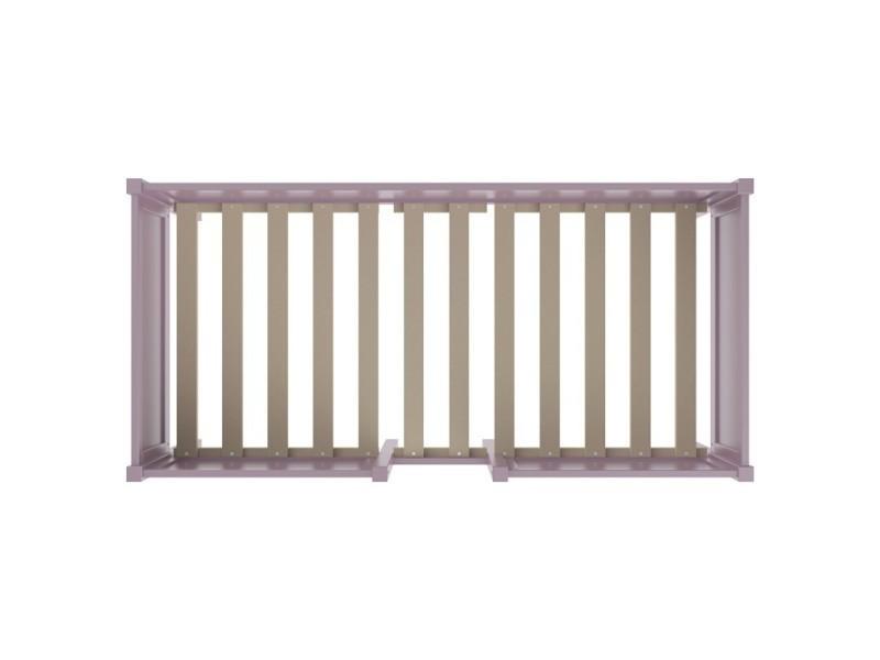 lit mi haut enfant avec rangement prune lit sureleve school caisson prune conforama. Black Bedroom Furniture Sets. Home Design Ideas