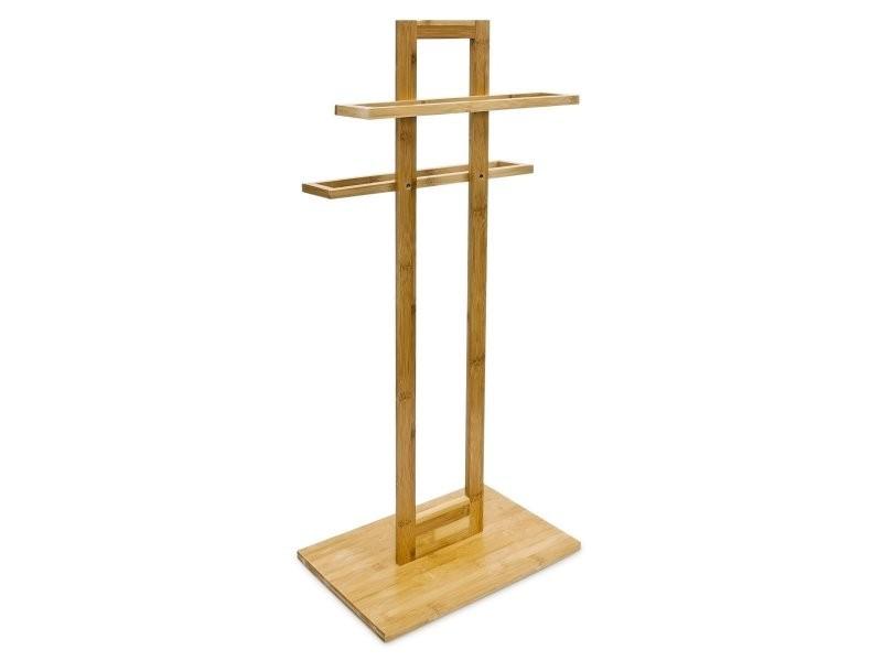 porte s che serviette sur pied tag re salle de bain universelle bambou 85 cm helloshop26. Black Bedroom Furniture Sets. Home Design Ideas