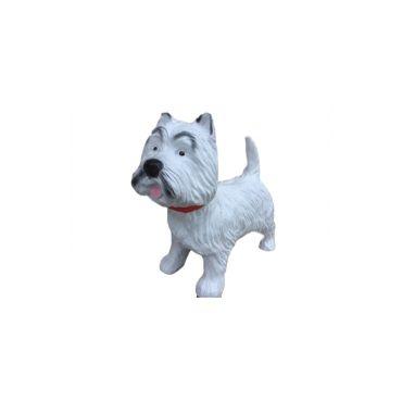 Statue sculpture resine chien westie debout 50cm vente for Decoration chien resine