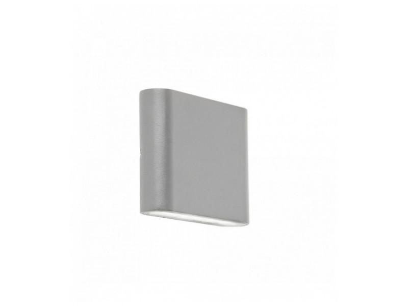 Applique d'extérieur à led haut / bas - gris - diffuseur transparent