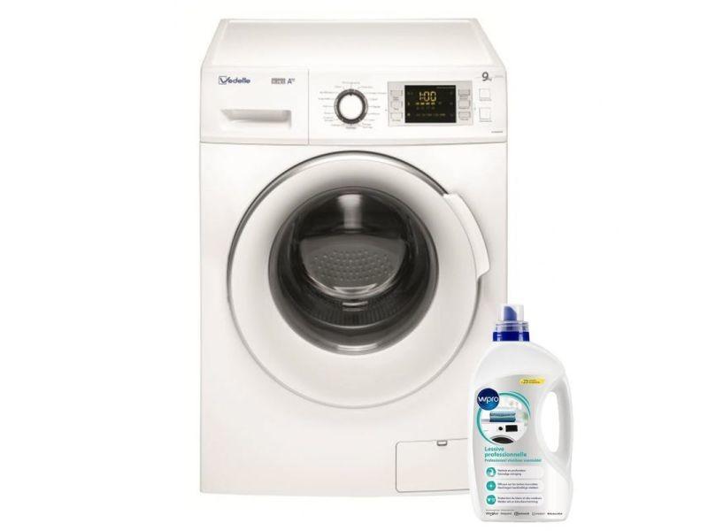 Lave-linge frontal 9kg a+++ 1400trs/min tambour 64l machine à laver hublot