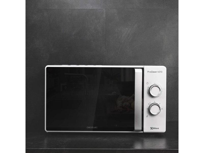 Micro-ondes de 23l avec minuterie 700w noir blanc