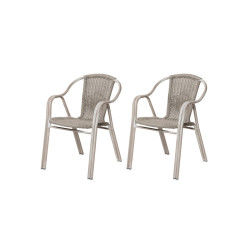 Lot de 2 fauteuils giro en résine tressée - rotin design