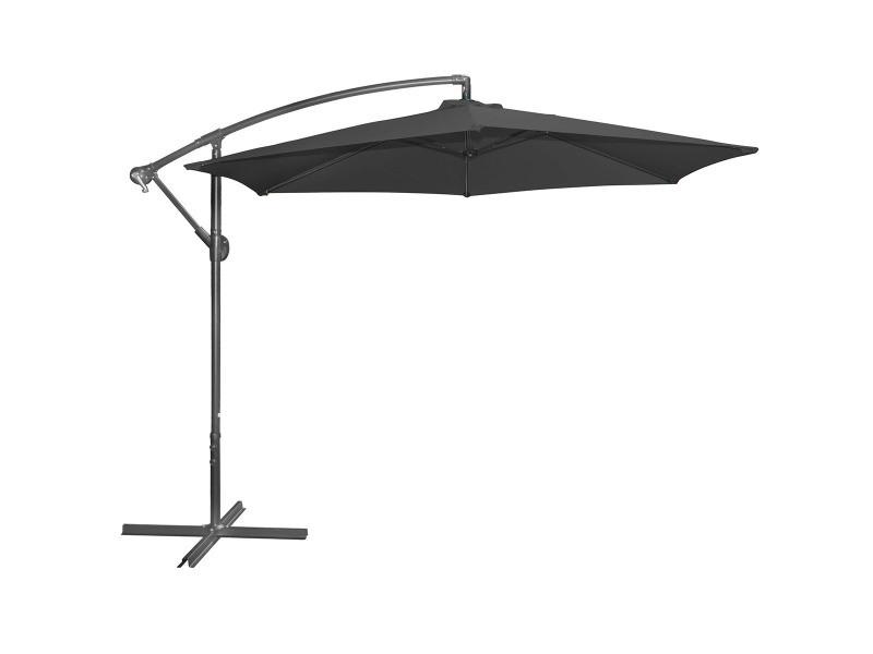 Parasol déporté 3m noir