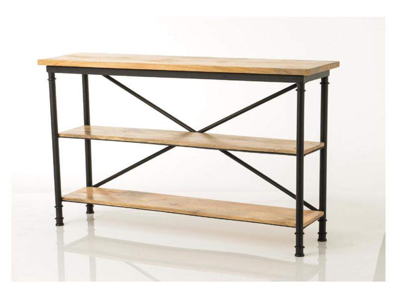 Console moderne en bois et métal - augustin