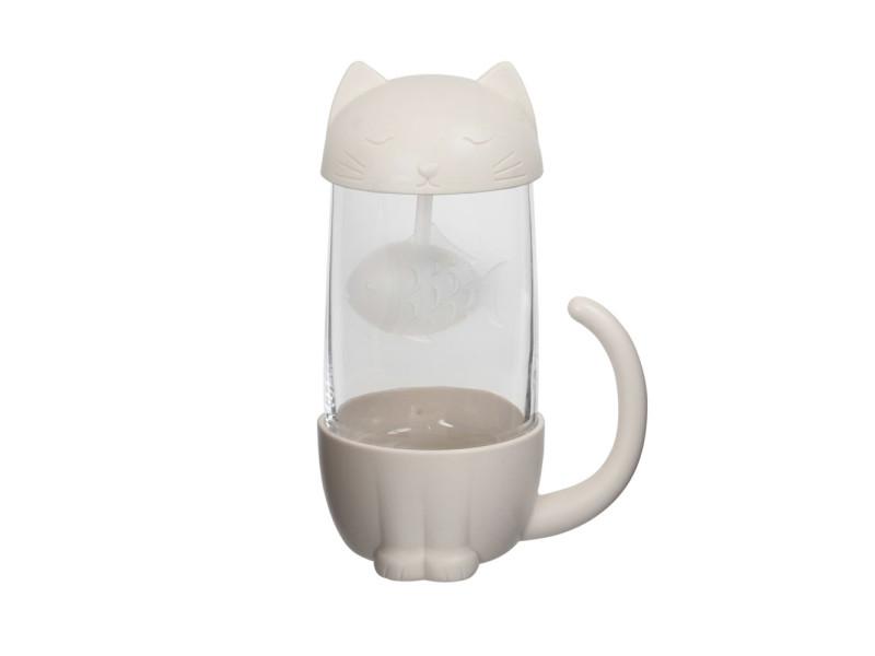 Tasse et infuseur à thé cat