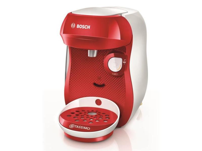 Bosch tas1006 - cafetière à dosette - 0,7 l - café moulu - 1400 w - rouge - blanc