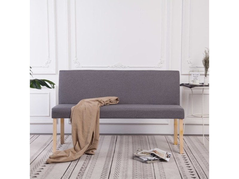 Sublime bancs ensemble ottawa banc 139,5 cm gris clair polyester