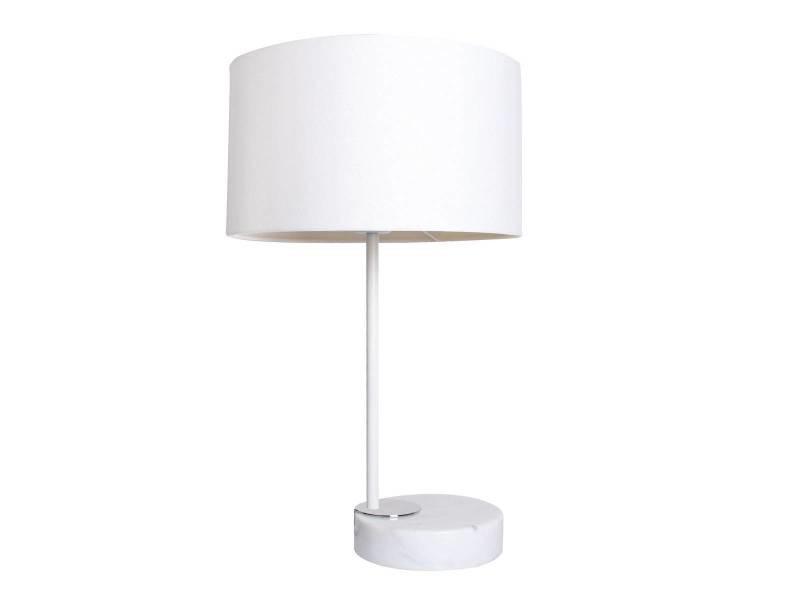 Lampe De Bureau Linea Blanche En Metal Et Marbre Vente De Laurie