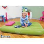 Matelas gonflable enfant 1 place vert + oreiller