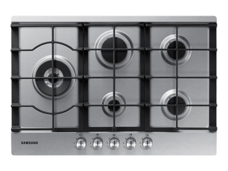 Samsung na75j3030as noir, acier inoxydable intégré (placement) gaz 5 zone(s) NA75J3030AS