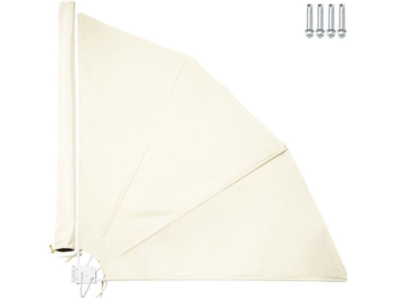 Brise vue paravent auvent rétractable 140 cm beige helloshop26 2208241
