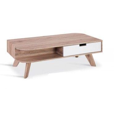 Table Basse Scandinave En Bois Timaru Avec Tiroir Laque Vente De Table Basse Conforama