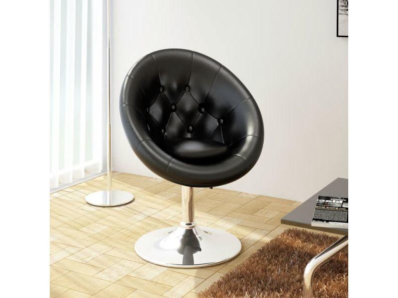 Superbe fauteuils famille beyrouth chaise de club cuir synthétique noir
