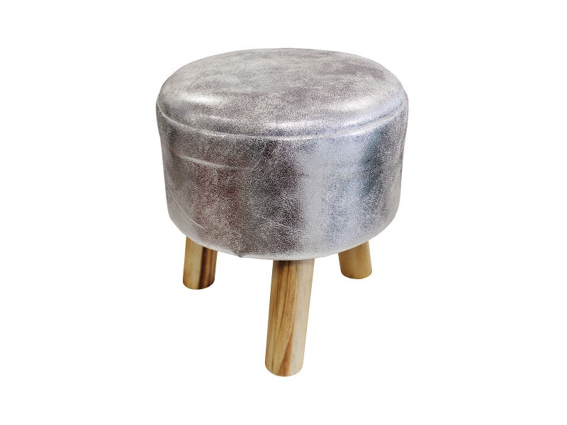 Tabouret lord argent