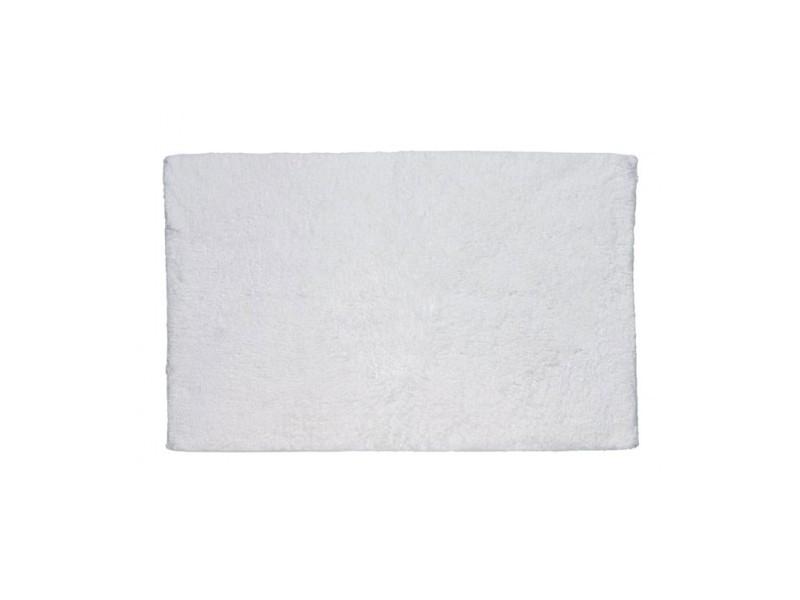 Tapis de bain rectangulaire 100% coton uni blanc - 1775g - 65*55cm