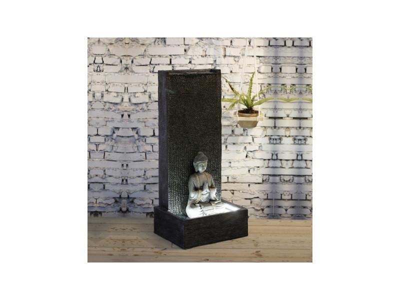 Grande fontaine xl mur bouddha - l 50 x l 30 x h 100 cm - fibre de verre