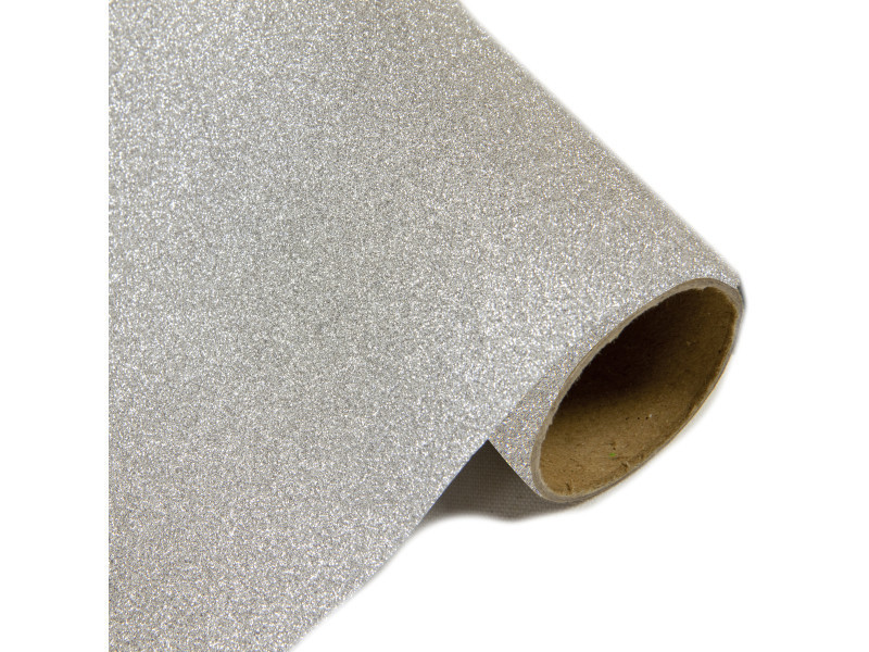 Lot de 10 rouleaux chemin de table effet en métal pailleté argent - 28 cm x 5m