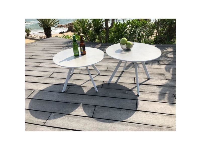 Table basse de jardin vendue seule lot de 2 tables rondes ...