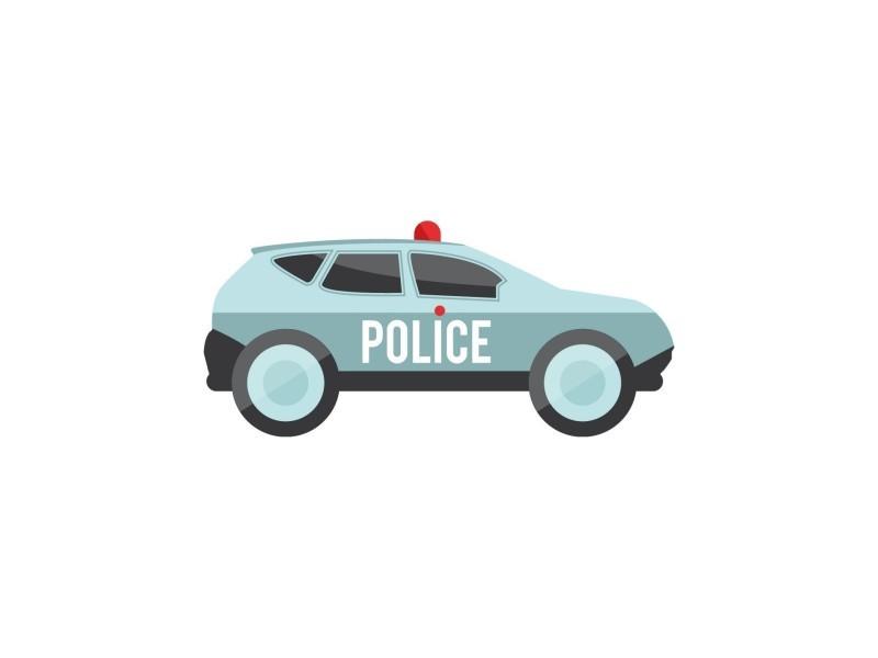 Stickers enfant: voiture de police - format : 36 x 17 cm